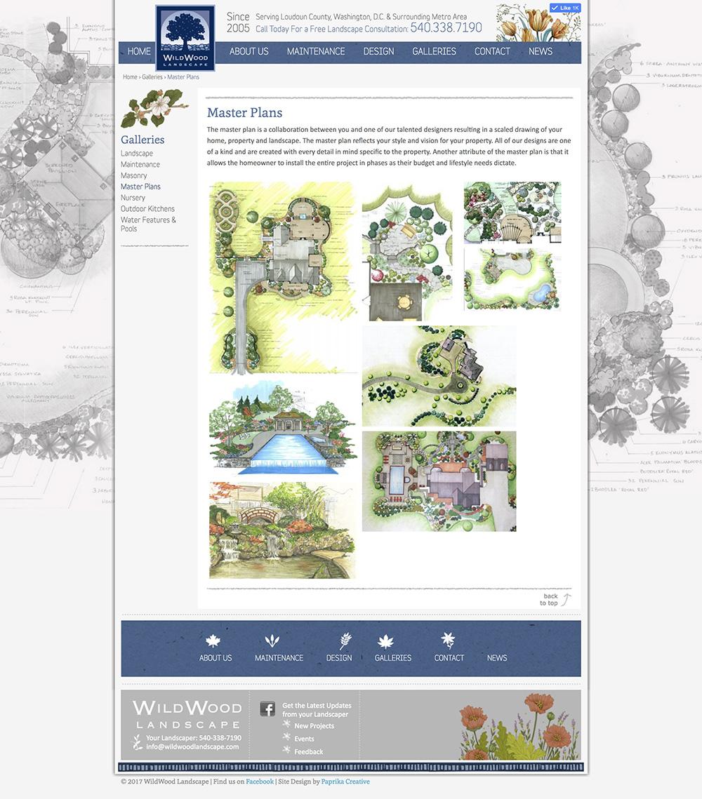 Wildwood Lanscape WordPress Website Inspiration Design 2018