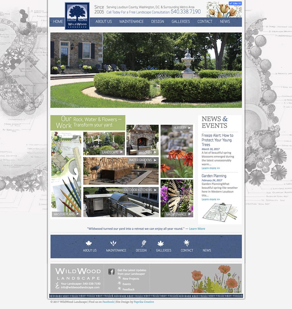 Wildwood Landscape Website WordPress