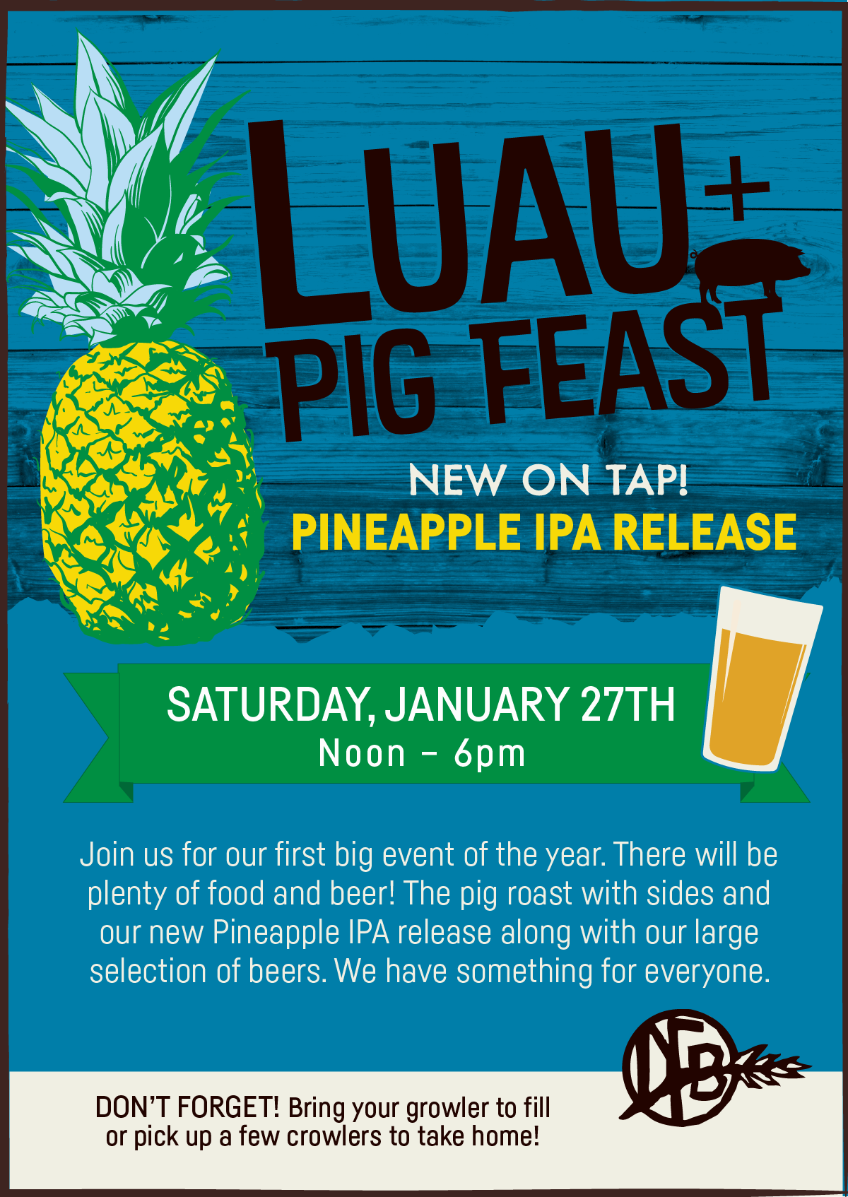 Dirt Farm Luau Pig Feast Event Poster Design