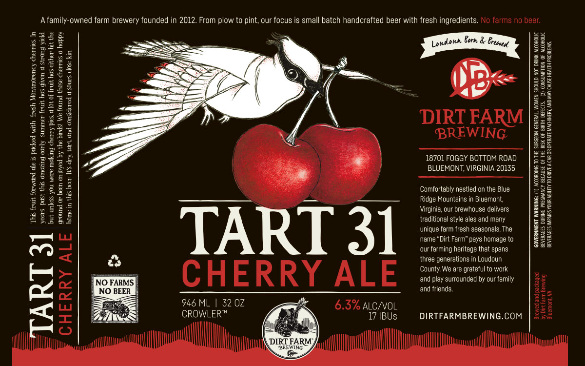 Dirt Farm Tart 31 Beer Label