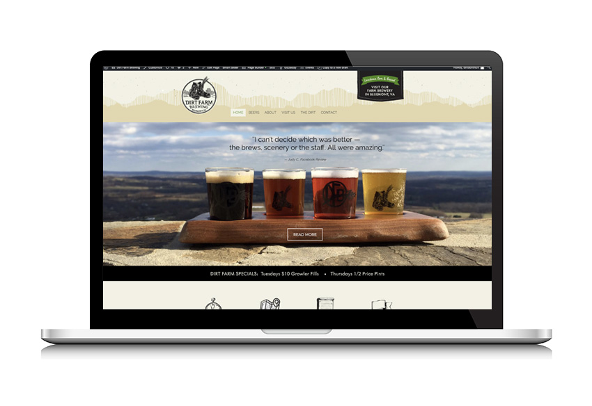 Paprika Creative Dirt Farm Brewing Website Design