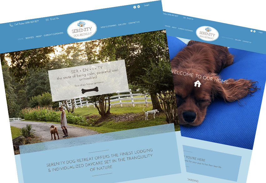 Serenity Dog Retreat Newnan Georgia Website Design