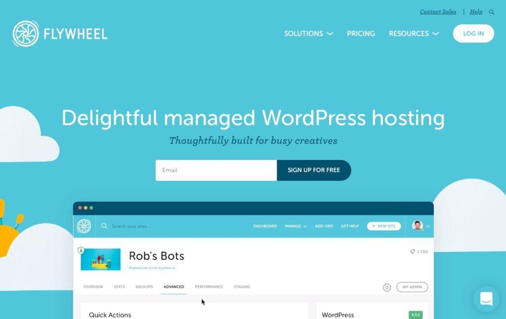 Best Hosting Company Flywheel Website Hosting