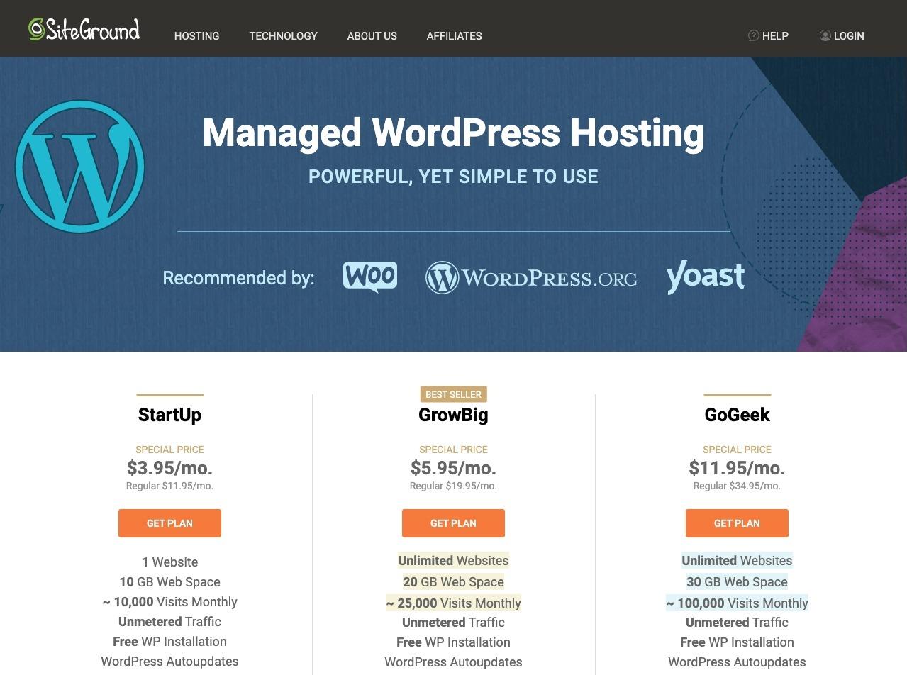 Siteground WordPress Hosting Great Hosting Solution